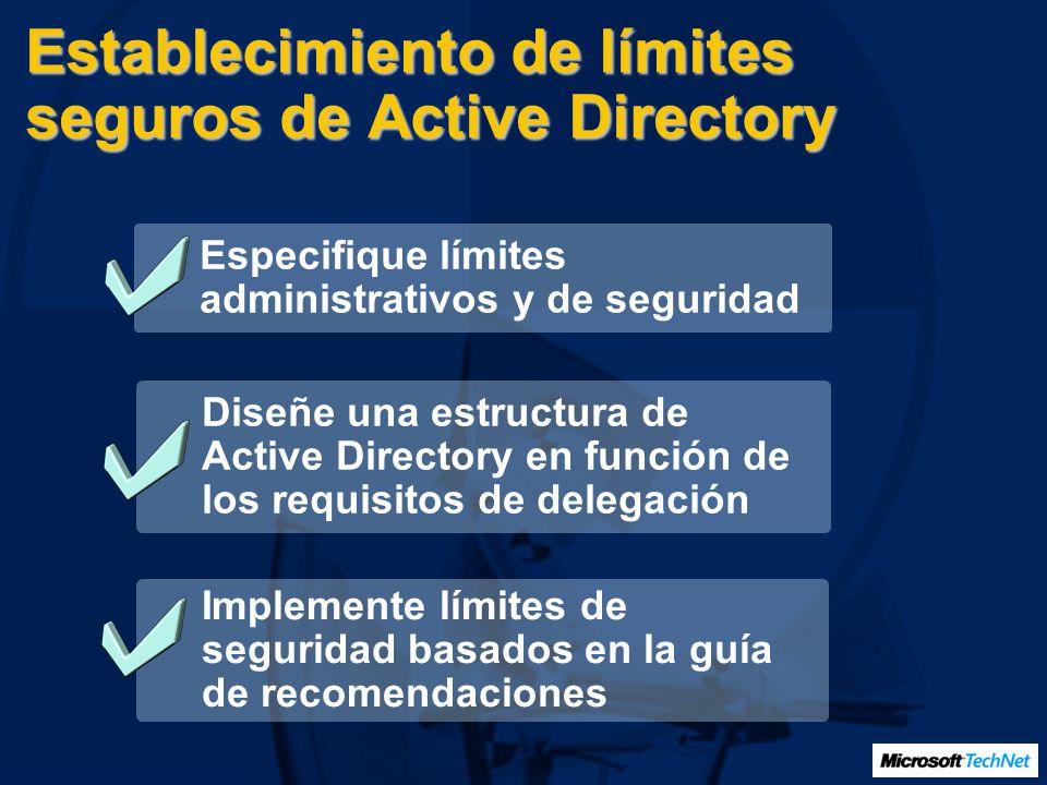 Establecimiento de límites seguros de Active Directory