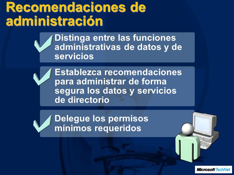 Recomendaciones de administración