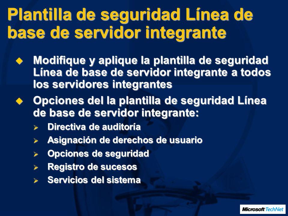 Plantilla de seguridad Línea de base de servidor integrante