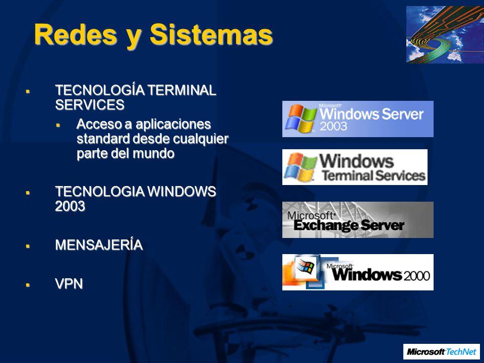 Redes y Sistemas TECNOLOGÍA TERMINAL SERVICES