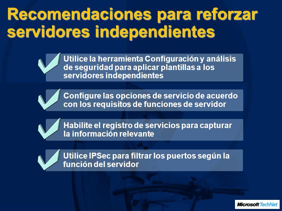 Recomendaciones para reforzar servidores independientes
