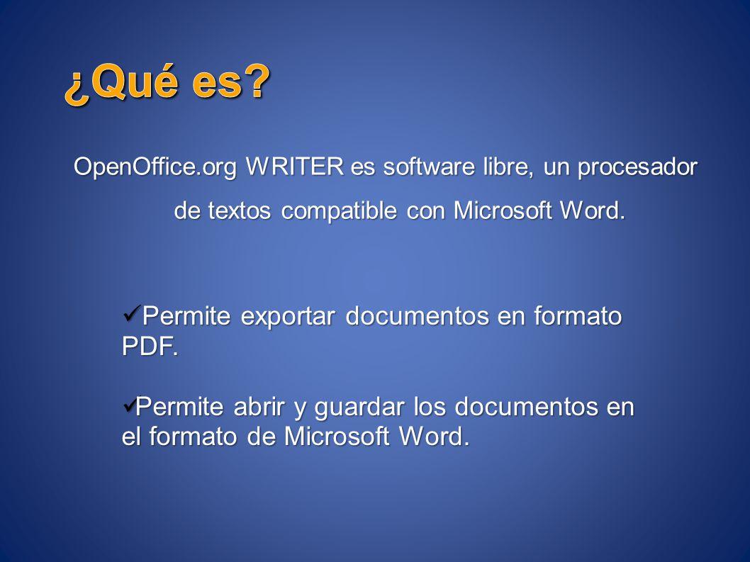 ¿Qué es Permite exportar documentos en formato PDF.