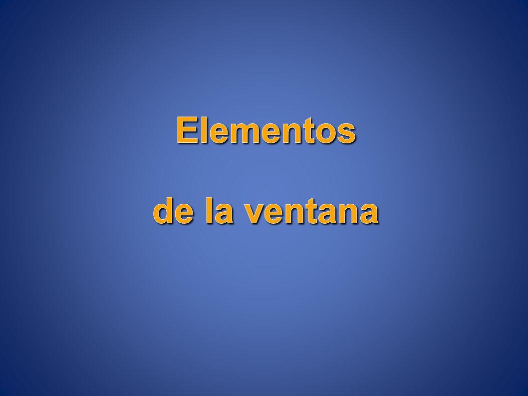 Elementos de la ventana