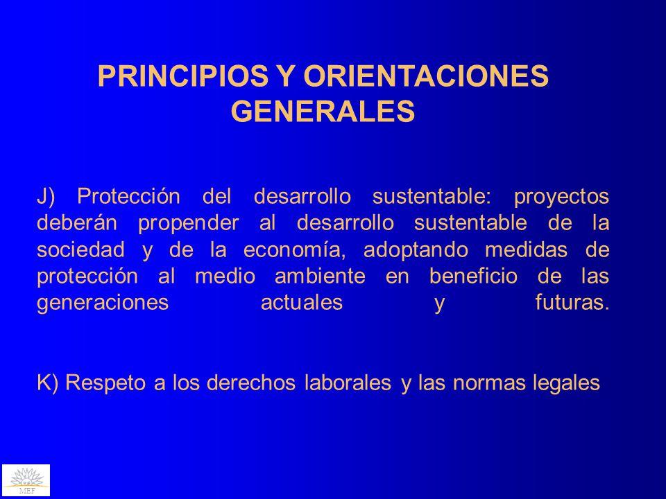 PRINCIPIOS Y ORIENTACIONES GENERALES
