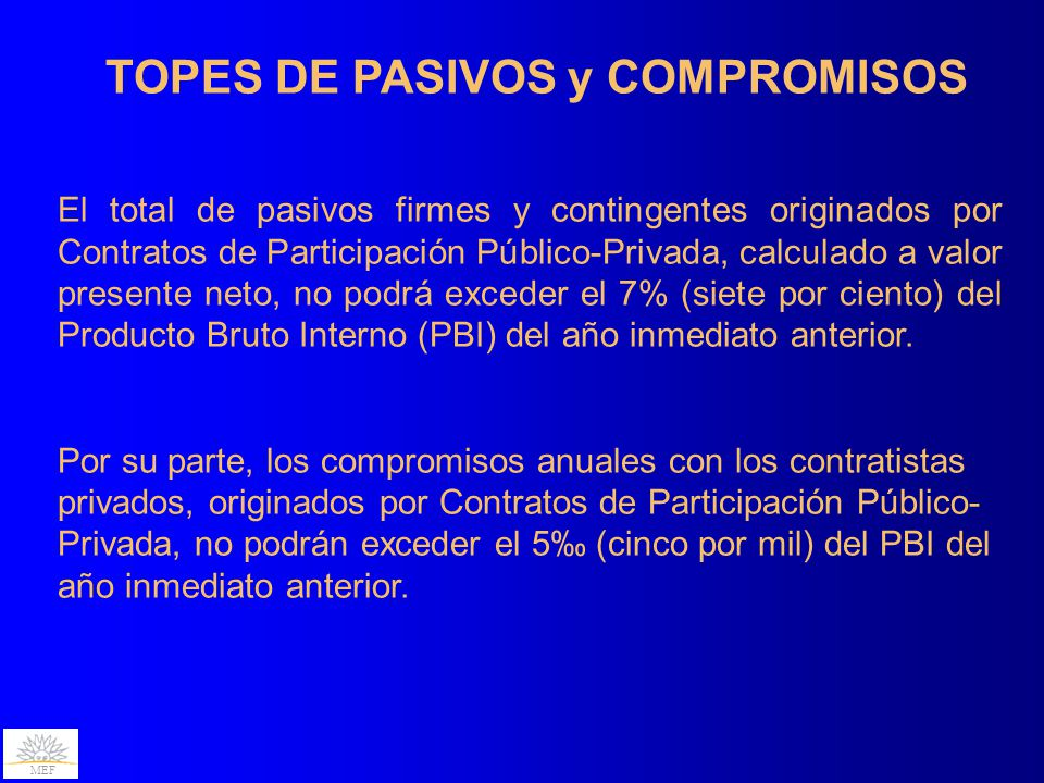 TOPES DE PASIVOS y COMPROMISOS