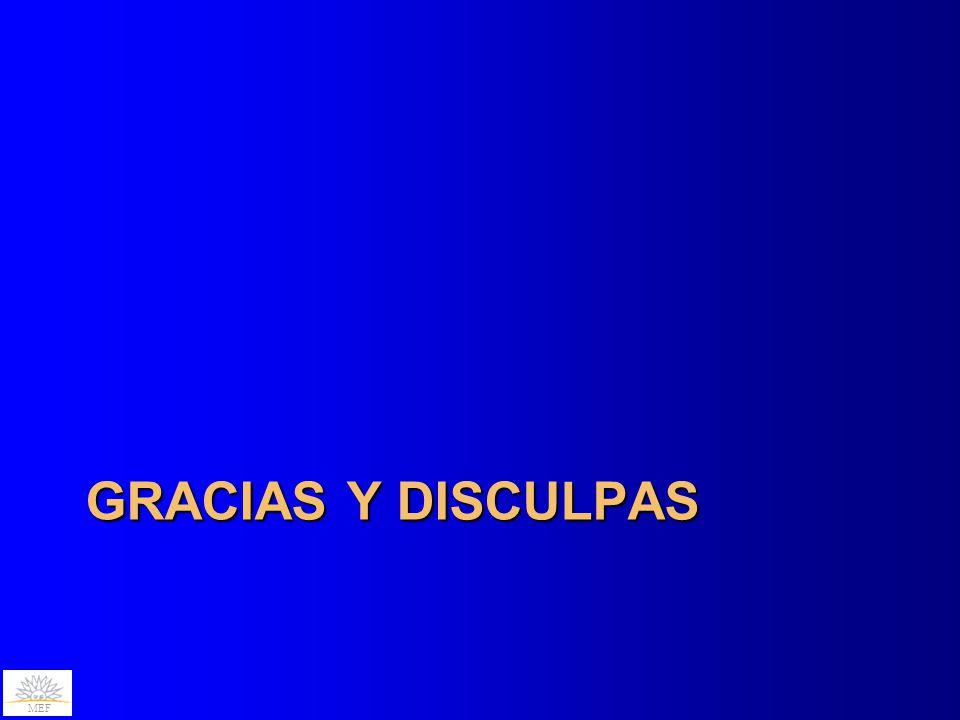 GRACIAS Y DISCULPAS