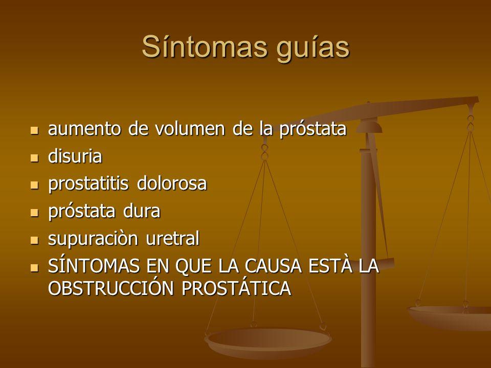 Síntomas guías aumento de volumen de la próstata disuria