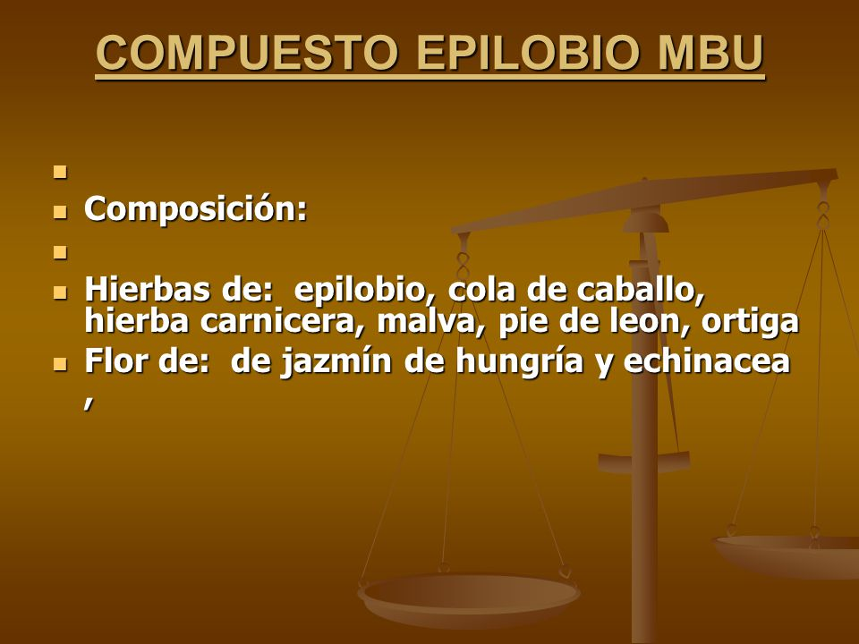COMPUESTO EPILOBIO MBU