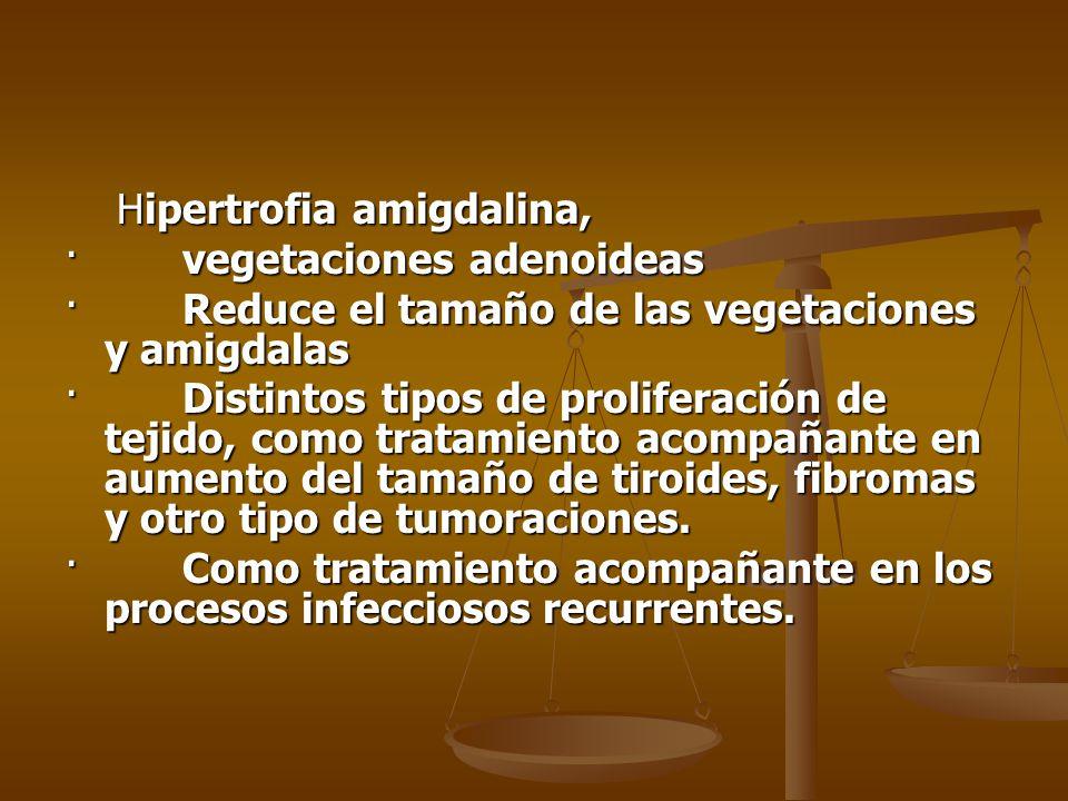 Hipertrofia amigdalina,