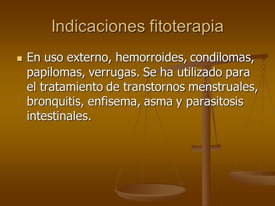 Indicaciones fitoterapia
