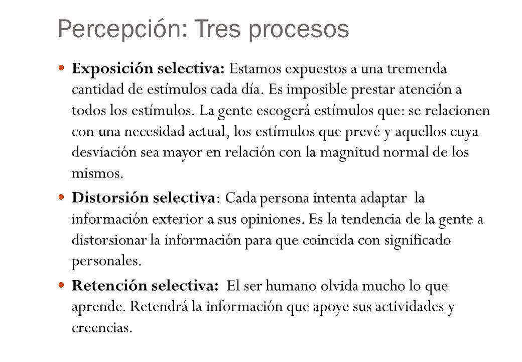Percepción: Tres procesos