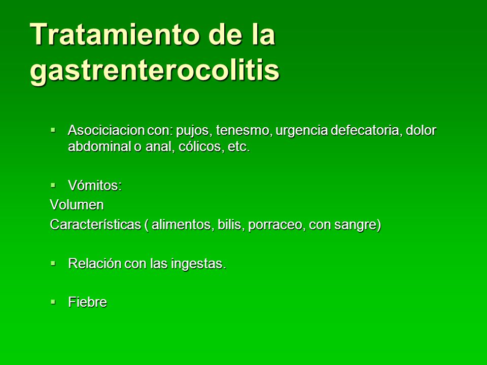 Tratamiento de la gastrenterocolitis