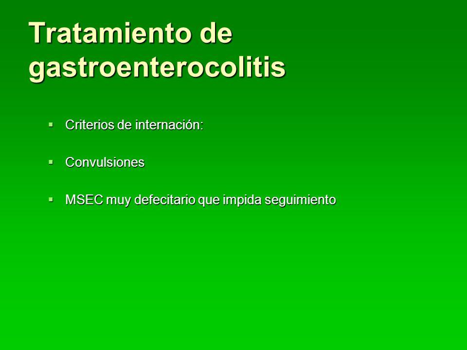 Tratamiento de gastroenterocolitis