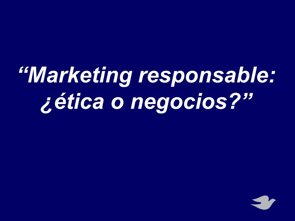 Marketing responsable:
