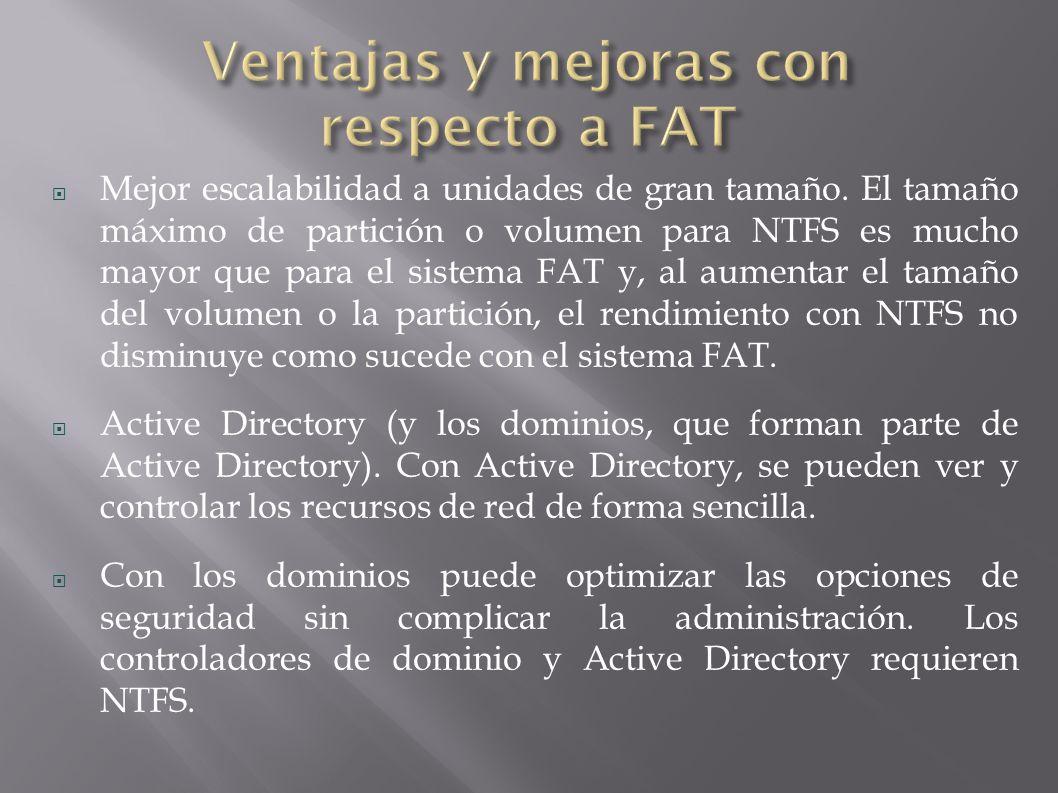 Ventajas y mejoras con respecto a FAT