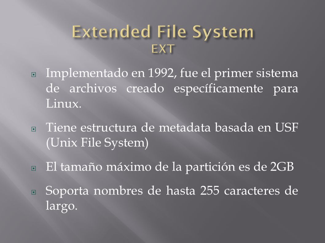 Extended File System EXT