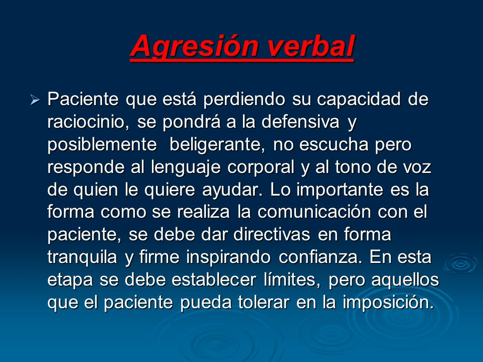 Agresión verbal
