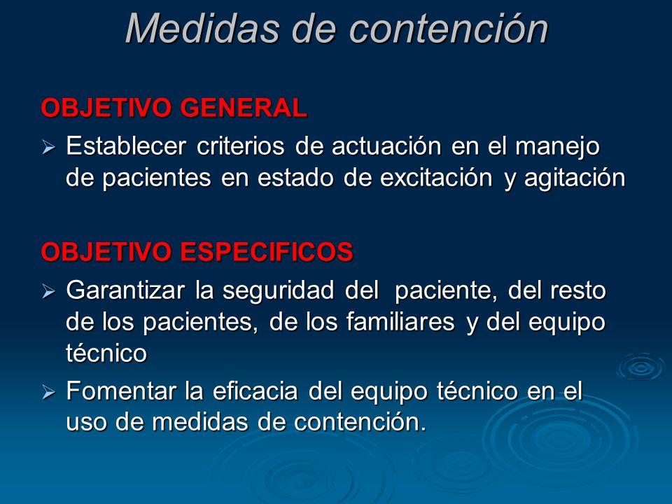Medidas de contención OBJETIVO GENERAL