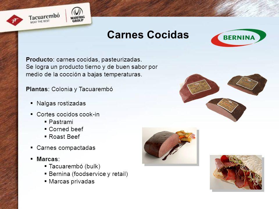 Carnes Cocidas Producto: carnes cocidas, pasteurizadas.