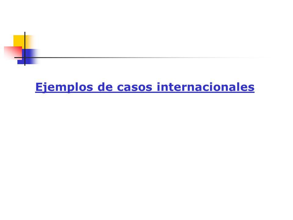 Ejemplos de casos internacionales