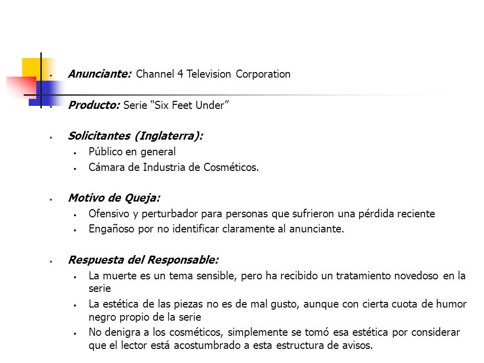 Anunciante: Channel 4 Television Corporation