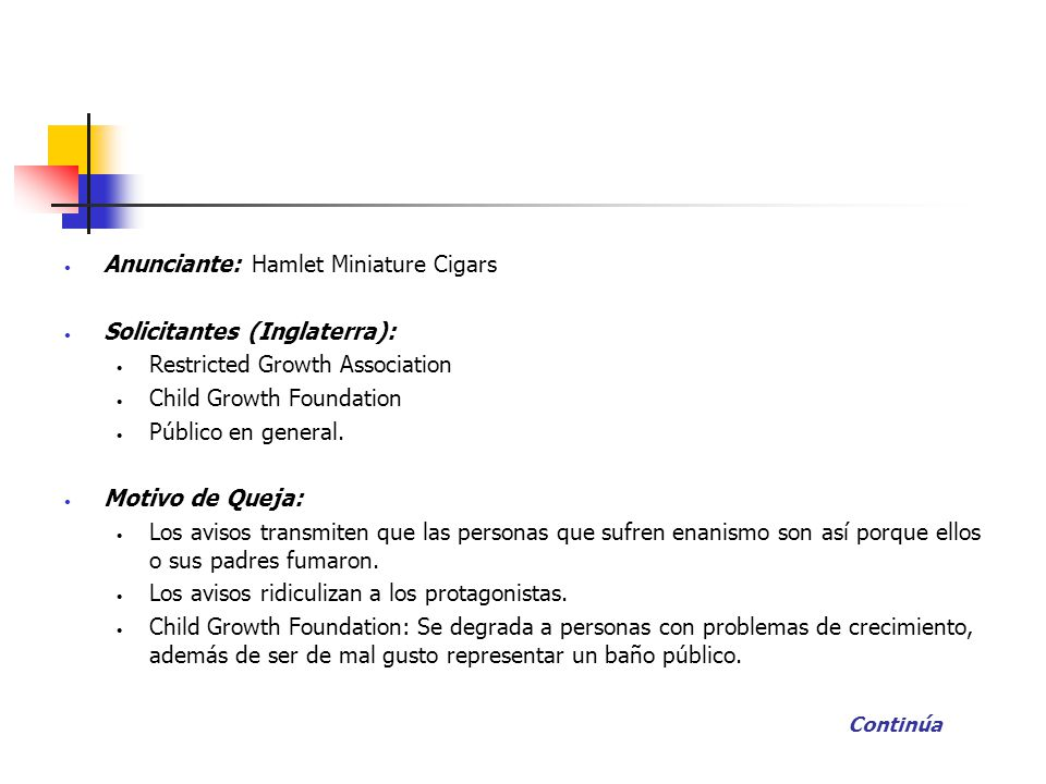 Anunciante: Hamlet Miniature Cigars Solicitantes (Inglaterra):