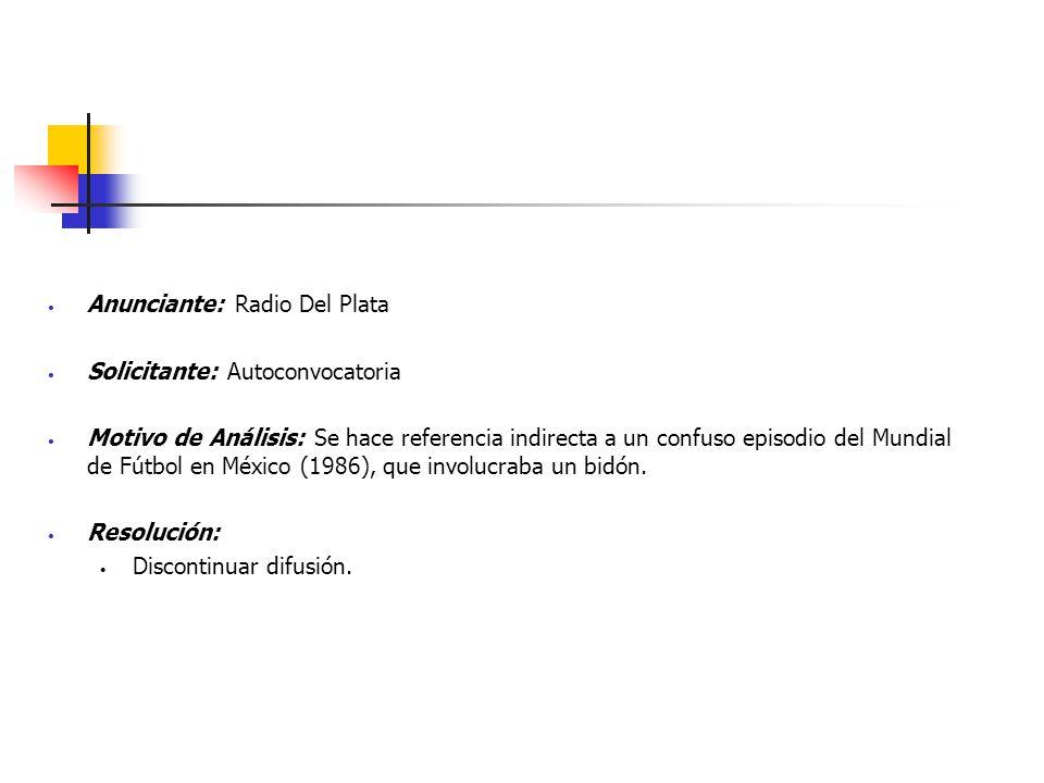 Anunciante: Radio Del Plata