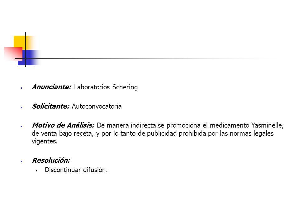 Anunciante: Laboratorios Schering
