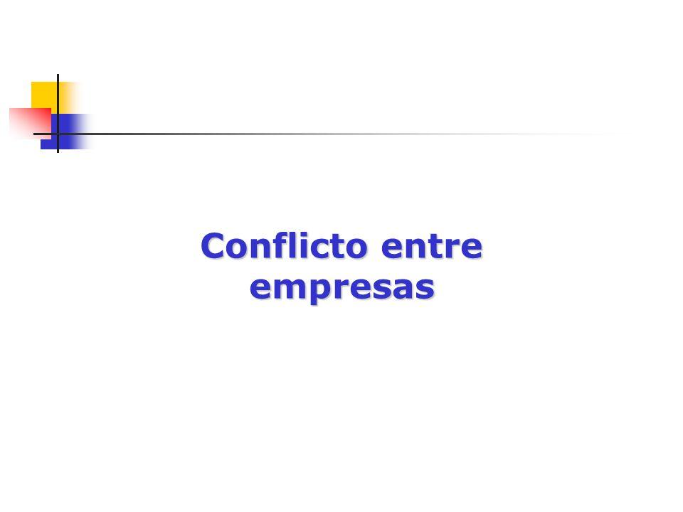 Conflicto entre empresas