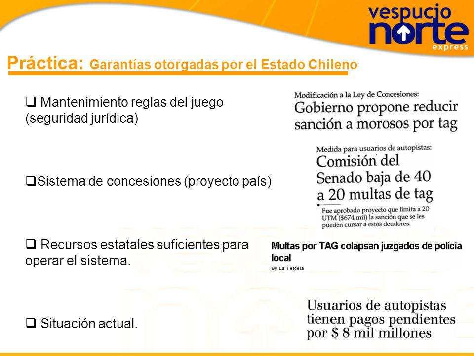 Práctica: Garantías otorgadas por el Estado Chileno