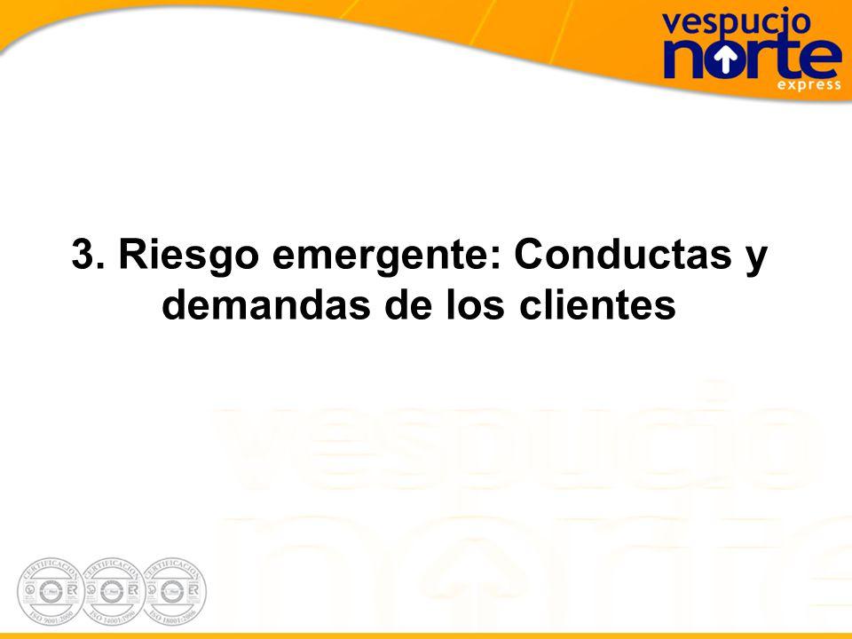 3. Riesgo emergente: Conductas y demandas de los clientes
