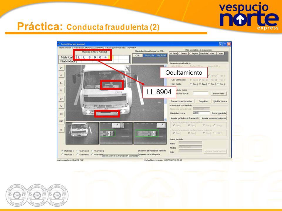 Práctica: Conducta fraudulenta (2)