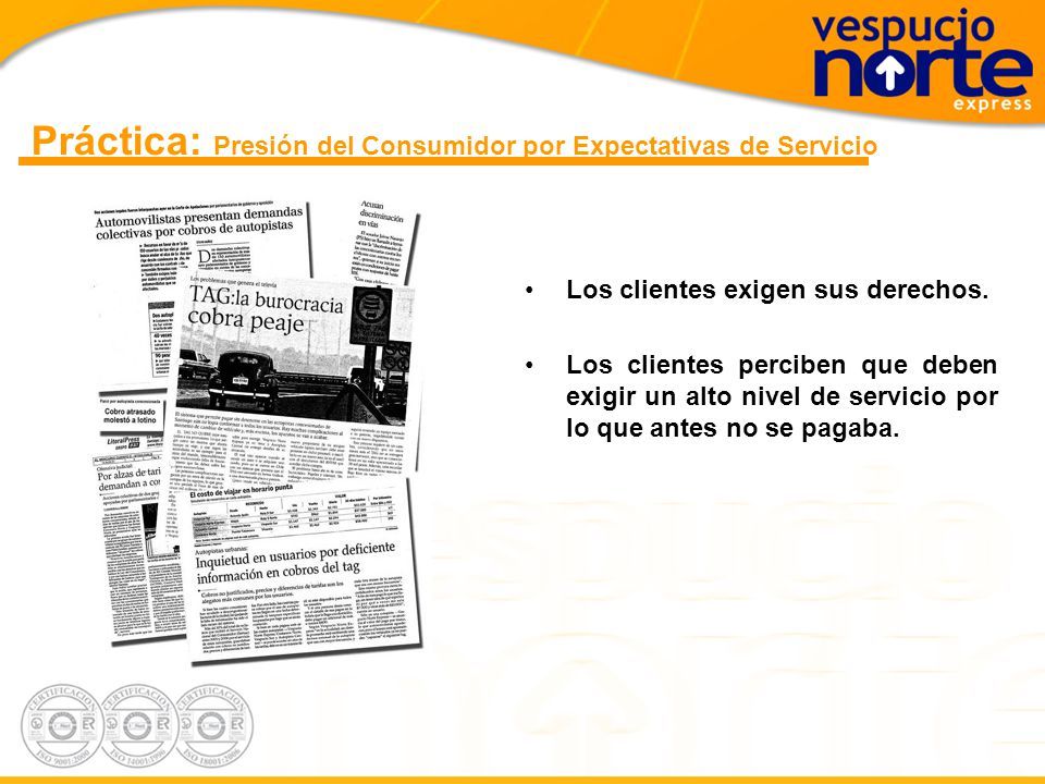 Práctica: Presión del Consumidor por Expectativas de Servicio