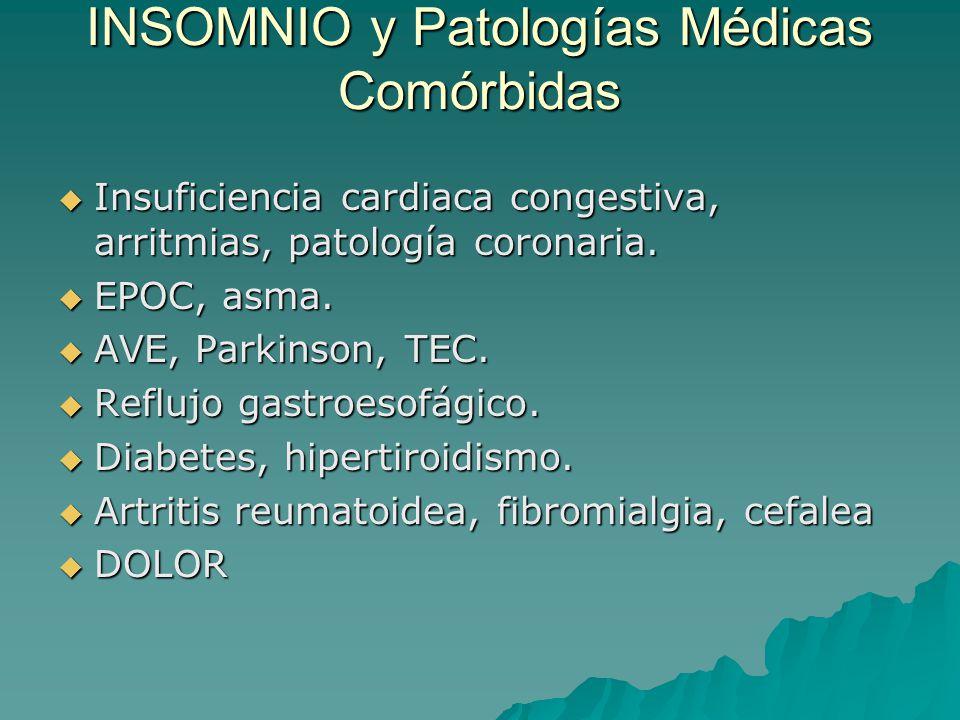 INSOMNIO y Patologías Médicas Comórbidas