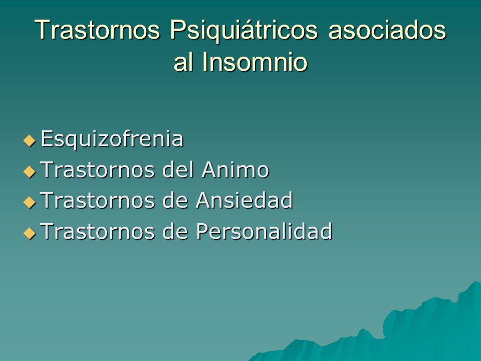Trastornos Psiquiátricos asociados al Insomnio