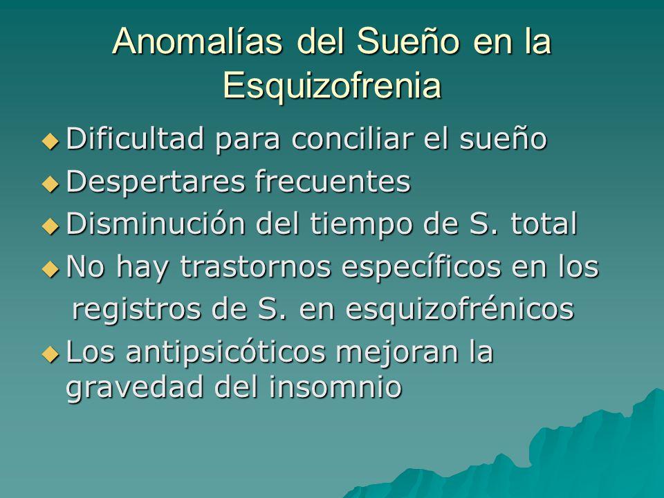 Anomalías del Sueño en la Esquizofrenia