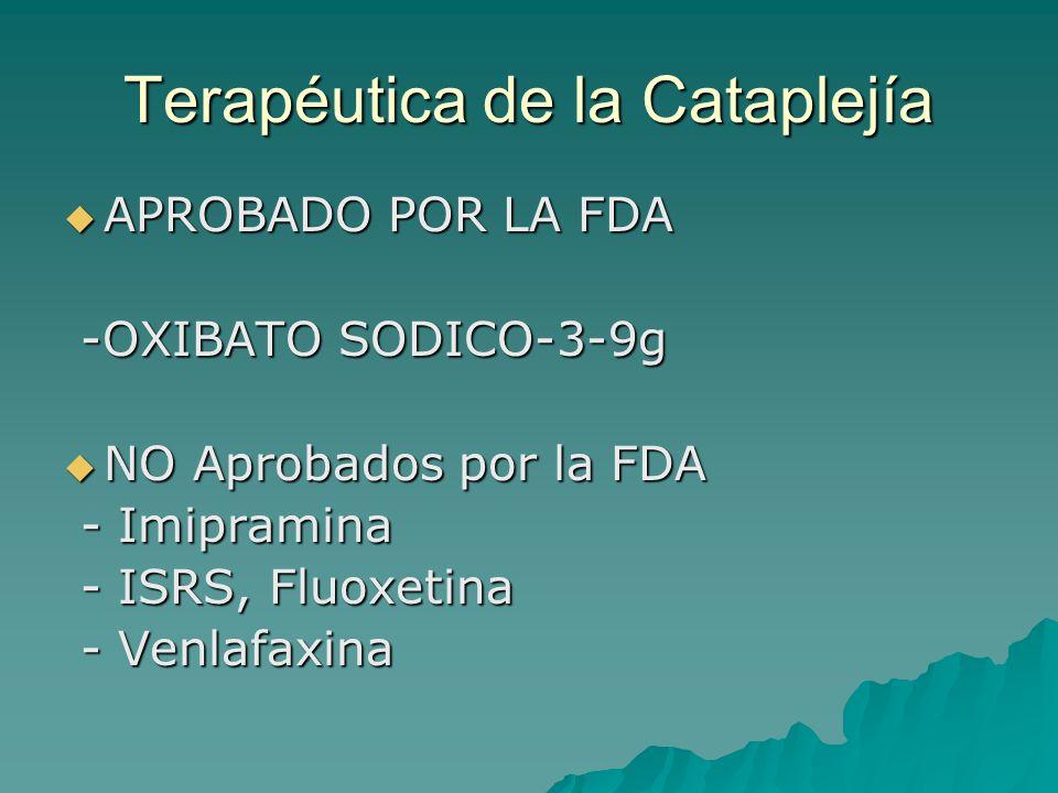 Terapéutica de la Cataplejía
