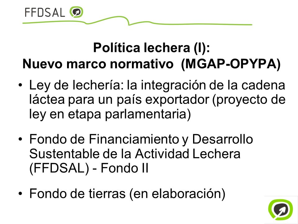 Política lechera (I): Nuevo marco normativo (MGAP-OPYPA)