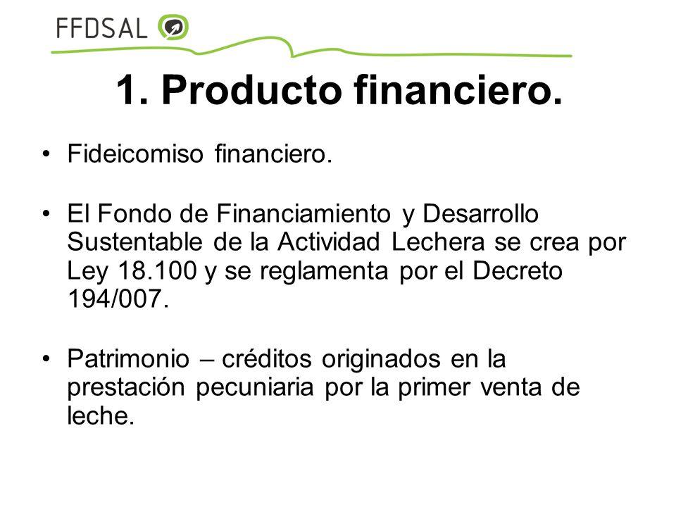 1. Producto financiero. Fideicomiso financiero.