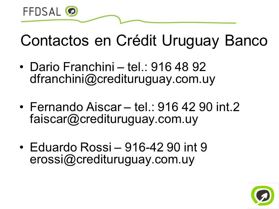 Contactos en Crédit Uruguay Banco