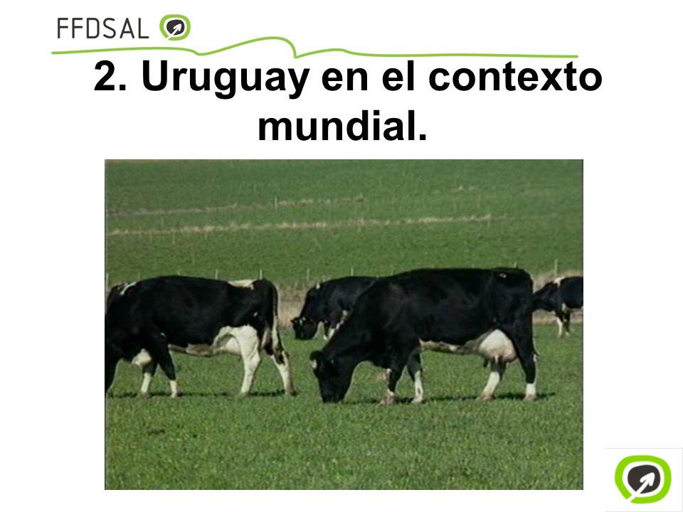 2. Uruguay en el contexto mundial.