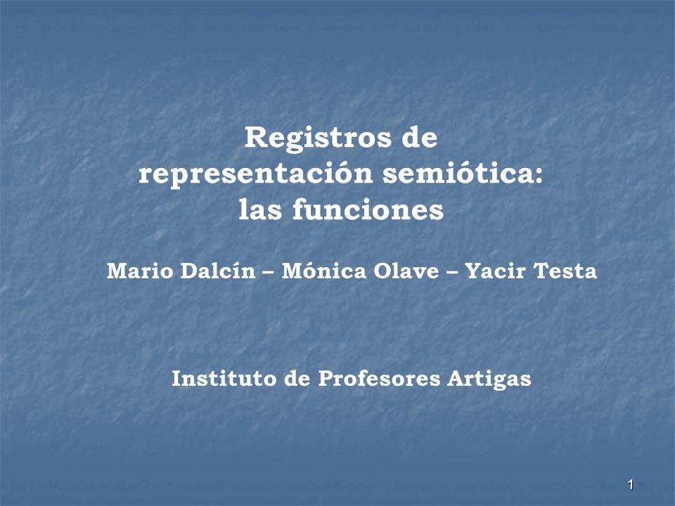 Registros de representación semiótica: las funciones