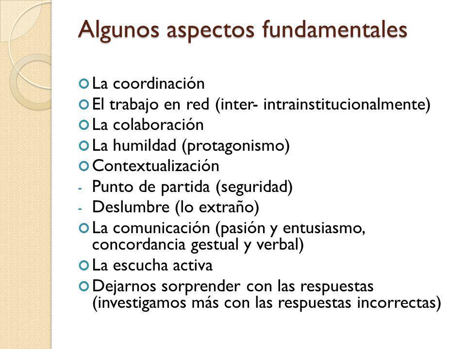 Algunos aspectos fundamentales