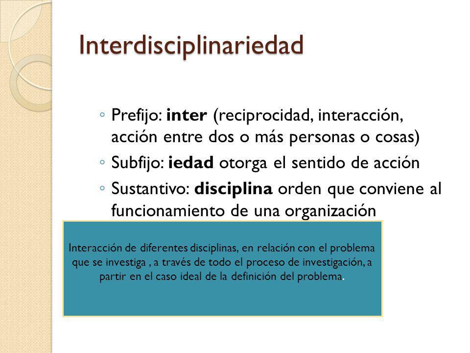 Interdisciplinariedad