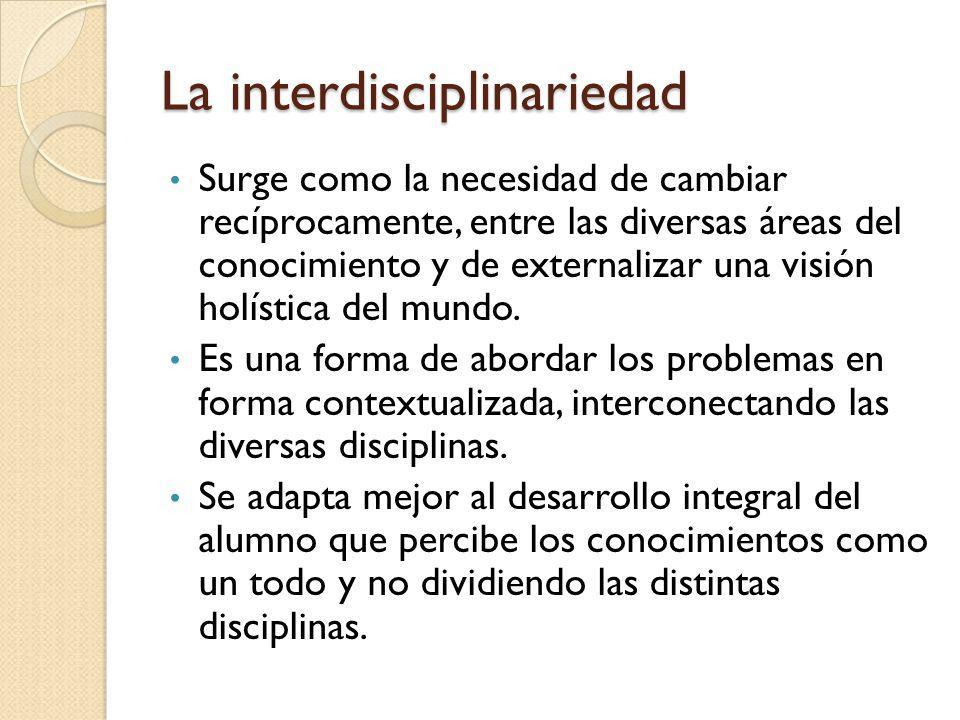 La interdisciplinariedad