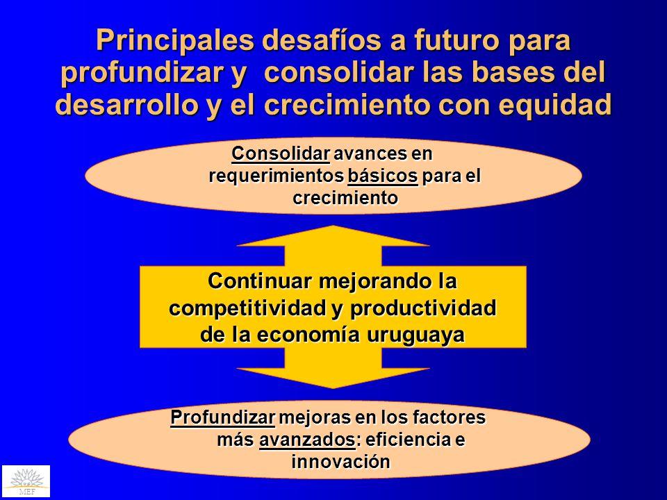 Principales desafíos a futuro para profundizar y consolidar las bases del desarrollo y el crecimiento con equidad