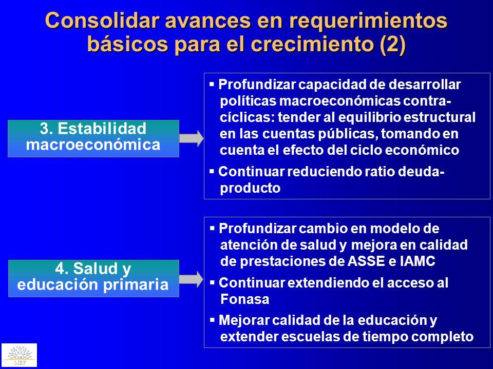 Consolidar avances en requerimientos básicos para el crecimiento (2)