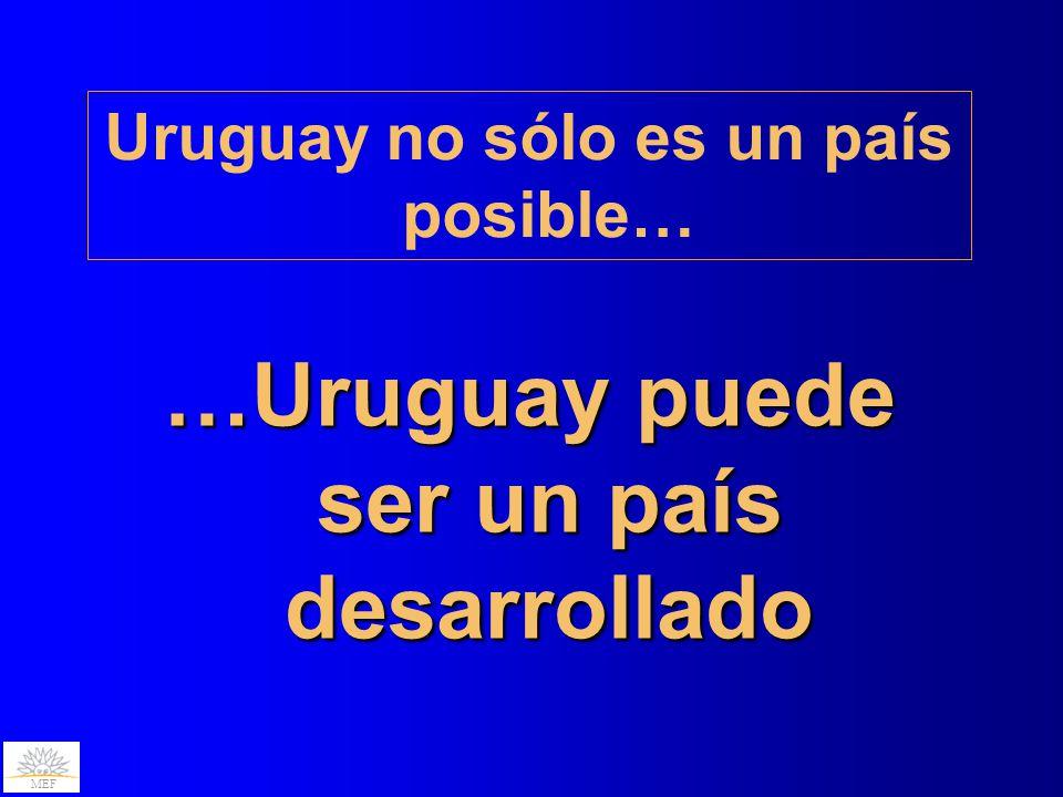 …Uruguay puede ser un país desarrollado