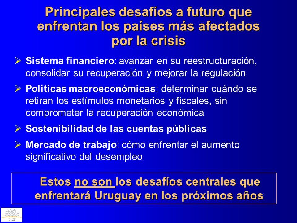 Principales desafíos a futuro que enfrentan los países más afectados por la crisis