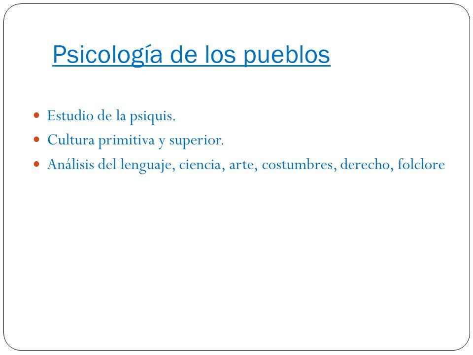 Psicología de los pueblos